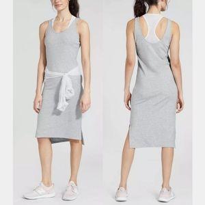 Athleta Mesh Grey Athletic Racerback Midi Dress